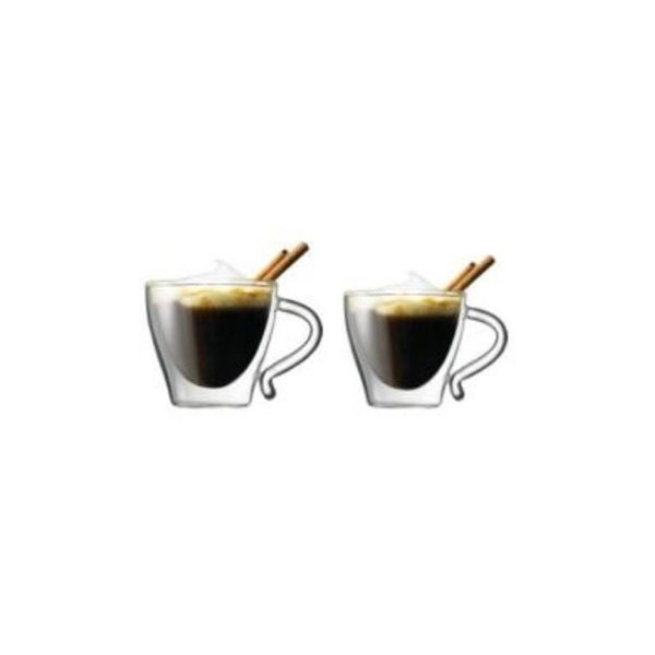 Set of 2 Starfrit GOURMET Double Wall Espresso Cups 80ml
