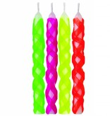 Wilton Wilton Lattice Hot Color Candles Pack of 10