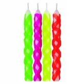 Wilton Ensemble de 10 chandelles  treillis couleurs vives de Wilton
