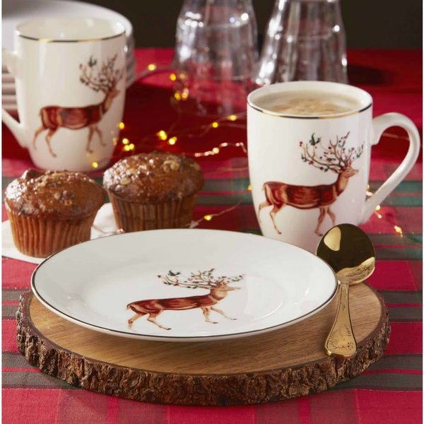 Rudolph Xmas Mug 325ml Set of 2