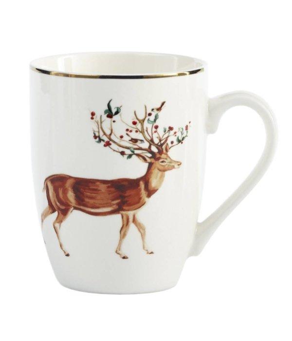 Rudolph Xmas Mug 325ml Set of 2