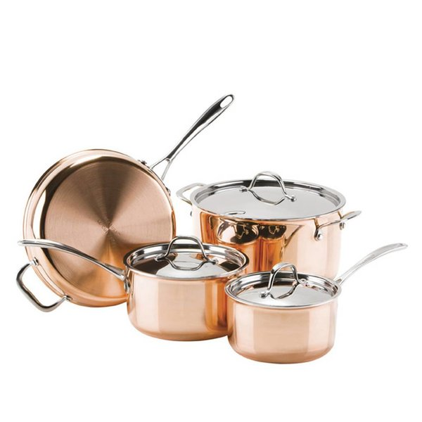 Josef Strauss 7pc Le Cuivre 3ply Cookware Set