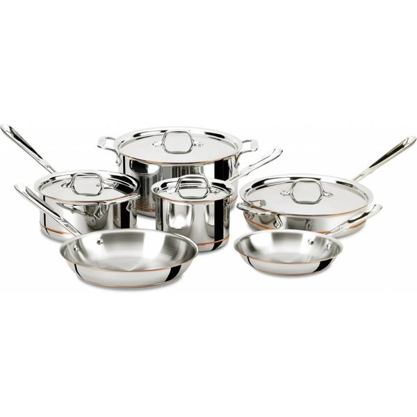All-Clad 10-PC Copper Core 5-Ply Bonded Cookware Set