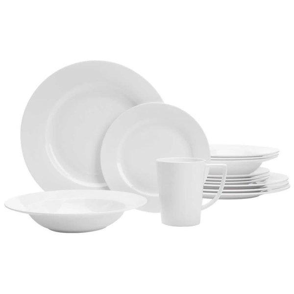 Safdie 20-Piece Topia Classic/Elegant Dinnerware Set, White