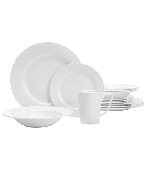 """Ensemble à vaisselle blanche 20 pièces """"Topia"""" de Safdie"""