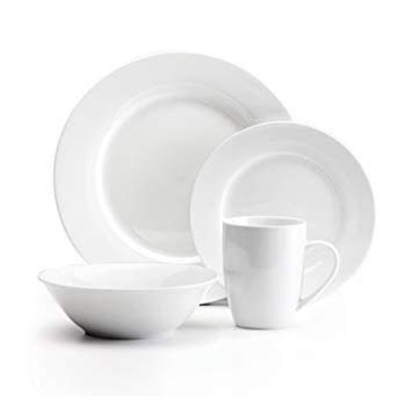 "Mann 16-Piece ""Bianco"" Dinnerware Set, White"