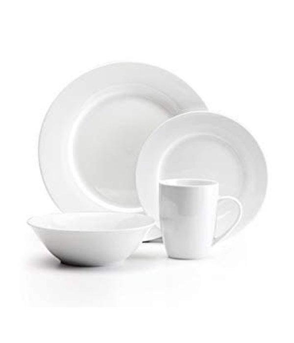 """Mann 16-Piece """"Bianco"""" Dinnerware Set, White"""