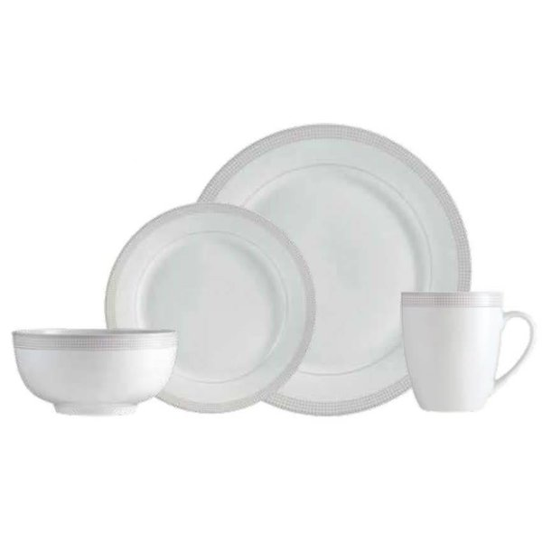 "Mann 16-Piece ""Taupe Dot"" Dinnerware Set"