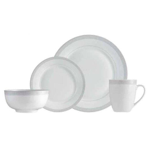 """Mann 16-Piece """"Grey Dot"""" Dinnerware Set"""