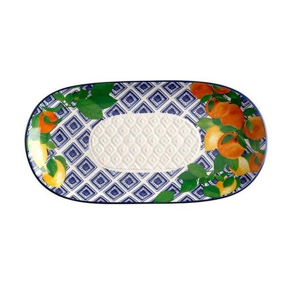 Maxwell & Williams Positano Oblong Platter 33x17cm Citrone