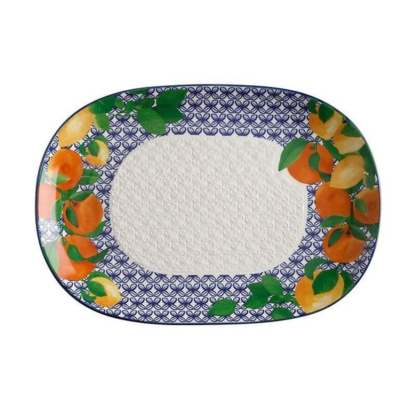Assiette service Positano Citrone 40x28cm de Maxwell & Williams