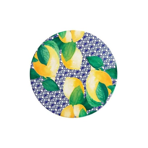 Maxwell & Williams Positano Ceramic Round Tile Trivet 20cm Limone