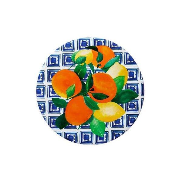 Sous-plat rond en céramique Positano Citrone de Maxwell & Williams