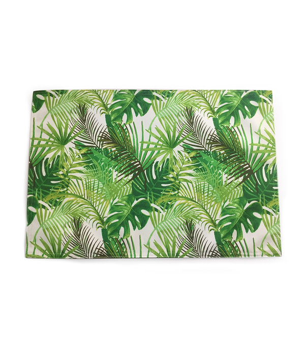 "TEXSTYLES 13""x19"" Reversible ""Palm Leaves"" Printed Placemat"