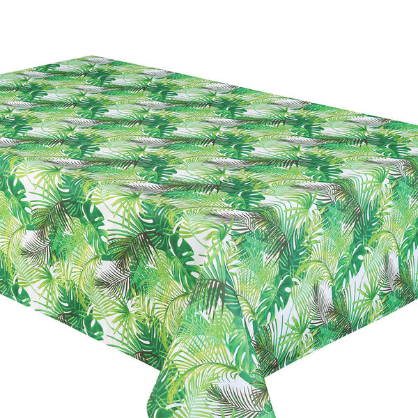 "TEXSTYLES 58"" x 94"" ""Palm Leaves"" Tablecloth"