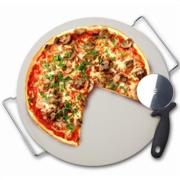 Pierre à pizza avec support et coupe-pizza de Danesco