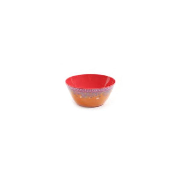 """Set of 4 """"Tropical"""" 6"""" melamine bowls"""