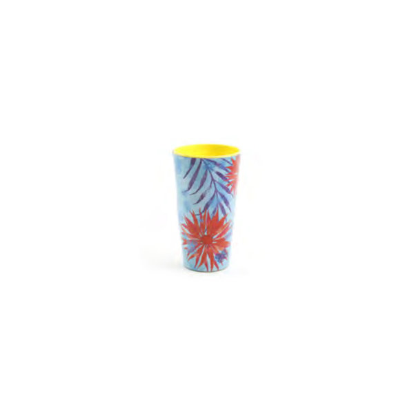 "4pc ""Tropical"" Melamine Tumbler Set"