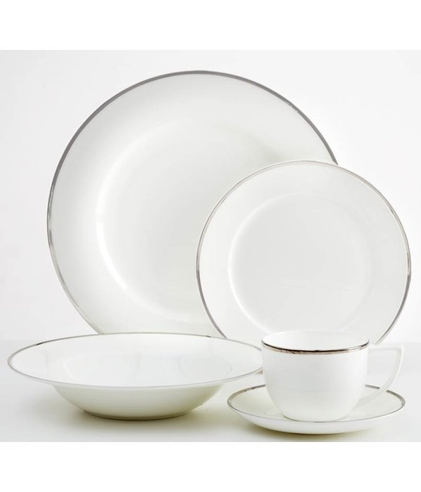 Dinnerset Platinum Rim Luxe 20PC by Safdie