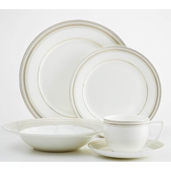 Dinnerset Taupe & Gold Milano 20 PC by Safdie