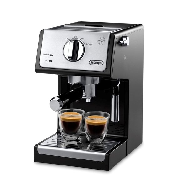 DeLonghi Manual Pump Espresso Machine , Black