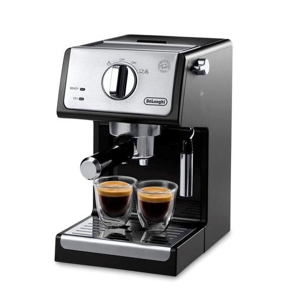Machine à espresso manuelle noir et acier inox de Delonghi