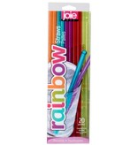 """Set of 20 Reusable """"Rainbow"""" Straws by JOIE"""