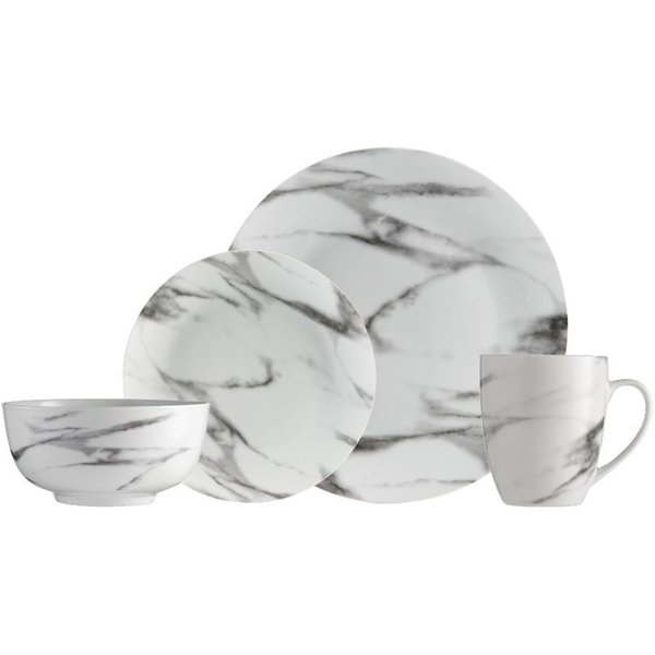 H2K 16pc Marble Dinnerware Set