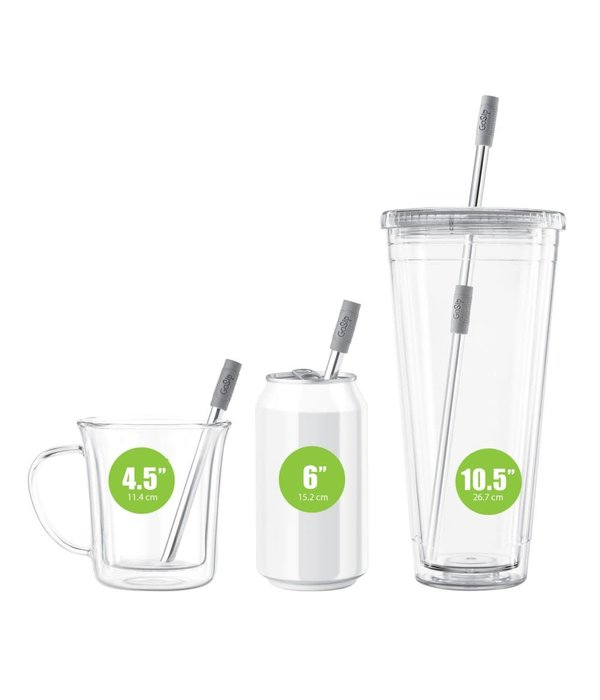 Final Touch Final Touch GoSip Multi-Use Straws, grey