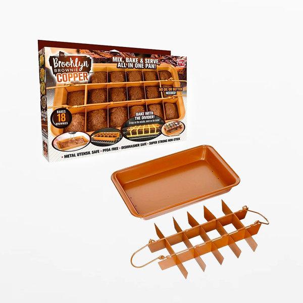 Brooklyn Brownie Copper by Gotham Steel Nonstick Baking Pan