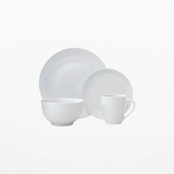 Ensemble de vaisselle 16mcx (Blanc) H2K