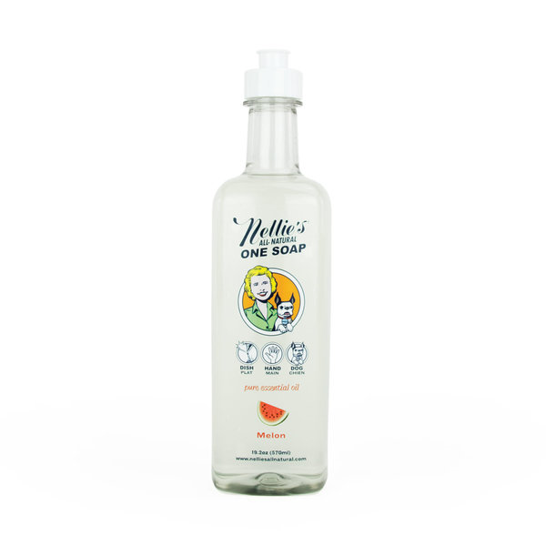 Nellie's All-Natural One Soap 570ml, Melon