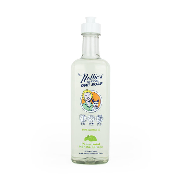 Nellie's All-Natural One Soap 570ml, Peppermint