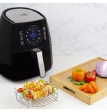 Kalorik Black Digital Airfryer with Dual L3.2qt 1400W