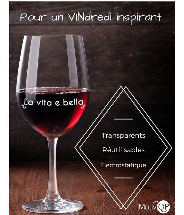 Motivop Marqueurs à verre de vin Motivop, Français