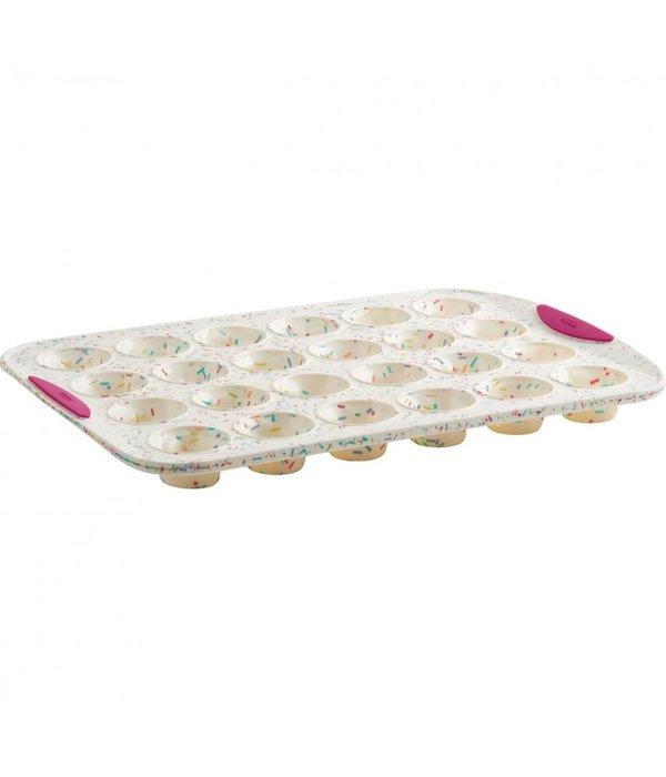 Trudeau Trudeau Structure Silicone White Confetti Mini Muffin Pan