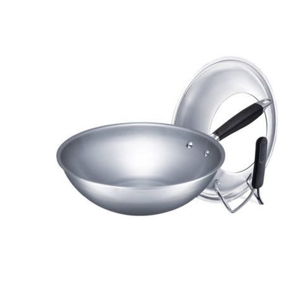 Supor 30 cm 5-Ply Wok with Standing Lid
