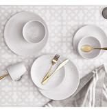 H2K 16pc  Cyprus Stoneware Dinnerware Set