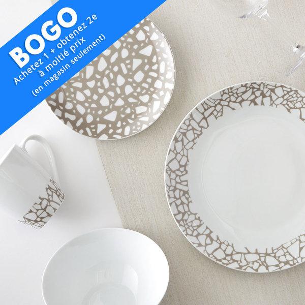 Ensemble à vaisselle 16mcx en porcelaine Terrazzo  H2K