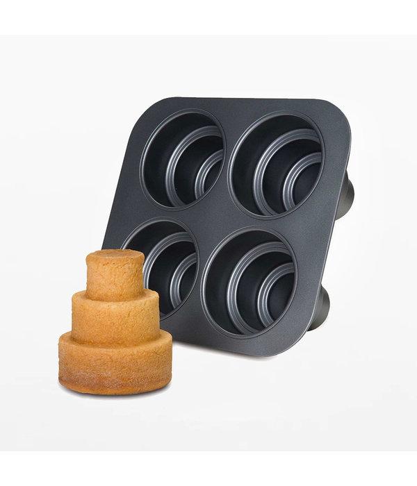 Moule mini gâteau tier de Chicago Metallic