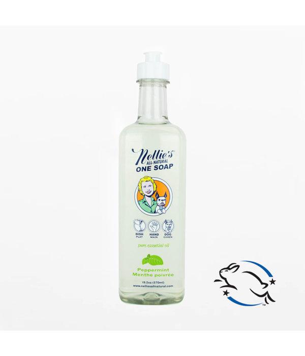 """Nellie's Savon """"One Soap""""  de Nellie's, Menthe poivrée, 570ml"""