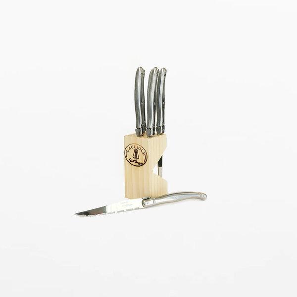 Laguiole Set of 6 Steak Knives w/Block