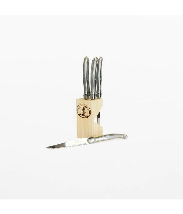 Ens. de 6 couteaux à steak avec bloc Laguiole