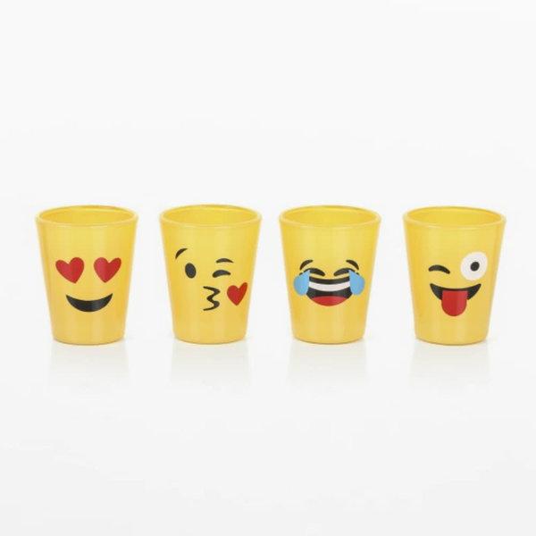 Brilliant Set of 4 Emoji Shotglasses