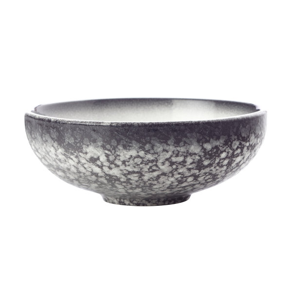 MAXWELL & WILLIAMS CAVIAR GRANITE COUPE BOWL 15.5 X 6CM