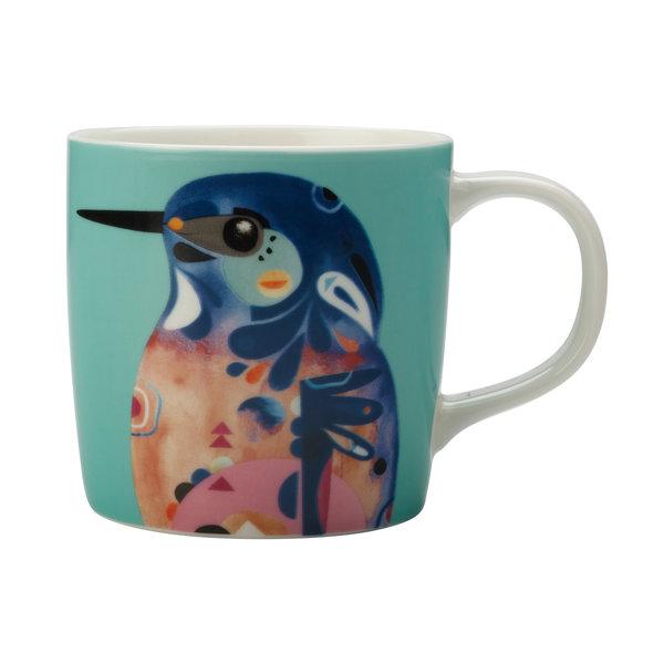"""Tasse à café 375ml """"Martin-pêcheur à dos bleu"""" de Pete Cromer"""