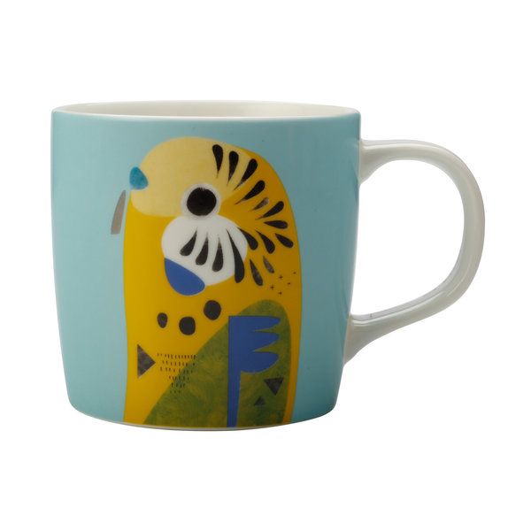 "Tasse en porcelaine 375ml P.Cromer ""Budgerigar"" de M&W ( F )"
