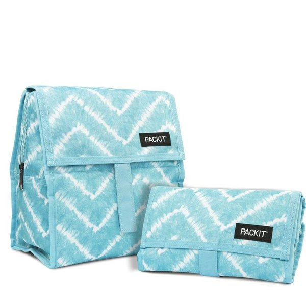 Packit Freezable Lunch Bag Aqua Tie-Dye