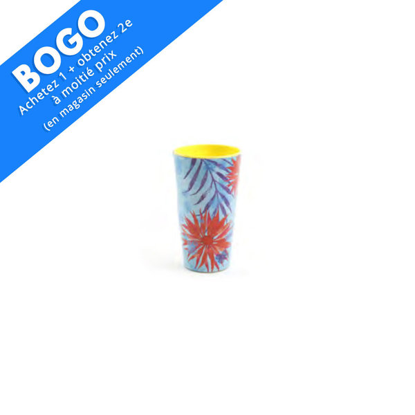 "Ensemble de 4 verres 20oz/591ml en mélamine ""Tropical"""