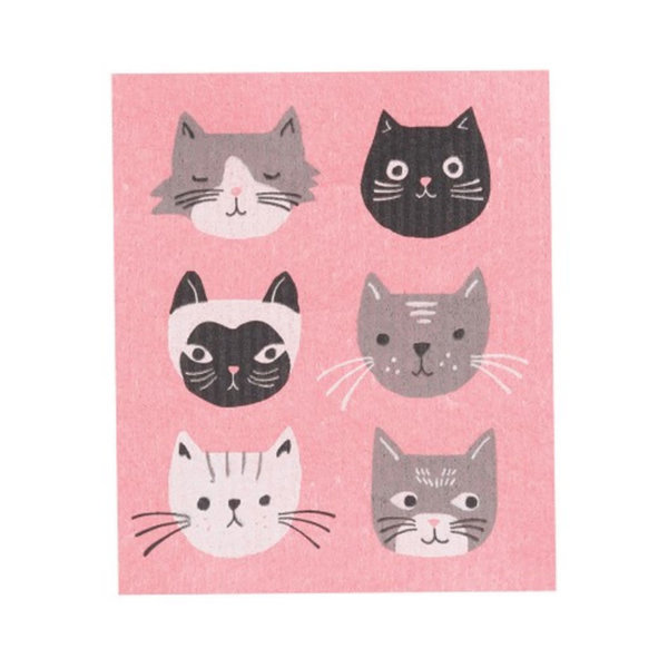 Cats Meow Swedish Dishcloth